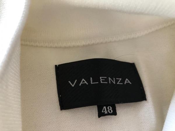 バレンザ 半袖カットソー サイズ48 XL レディース美品  白×シルバー ハイネック
