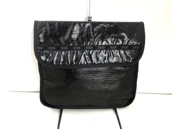 LESPORTSAC(レスポートサック) セカンドバッグ 黒×グレー 化学繊維