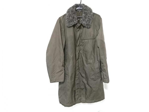 MEN'S MELROSE(メンズメルローズ) コート メンズ カーキ×マルチ フェイクファー/冬物