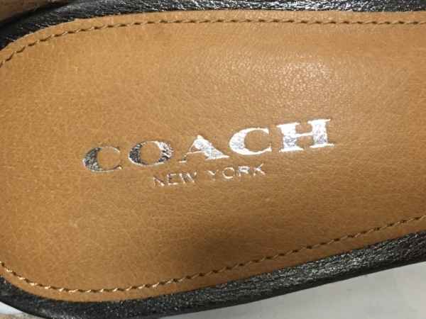 COACH(コーチ) サンダル 35 レディース ガンメタル レザー