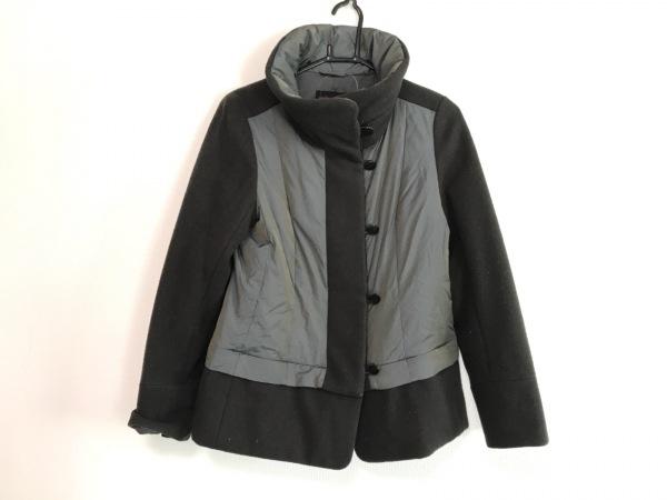 ヨシエイナバ ダウンジャケット サイズ9 M レディース美品  黒×ダークグレー