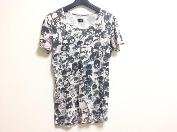 L.G.B.(ルグランブルー) 半袖Tシャツ サイズ1 S レディース 白×黒×ベージュ スカル
