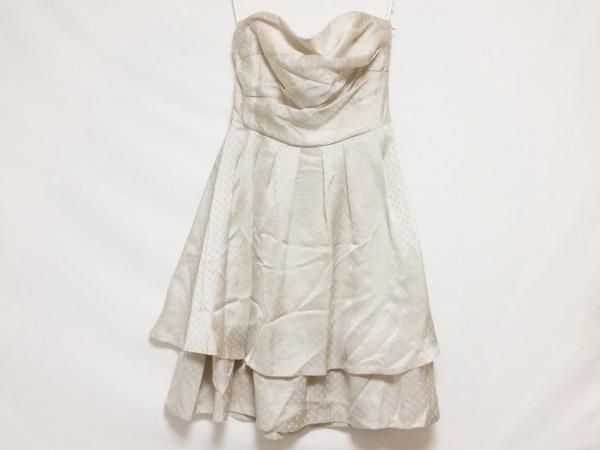 La Defence(ラデファンス) ドレス サイズ9 M レディース ベージュ ドット柄