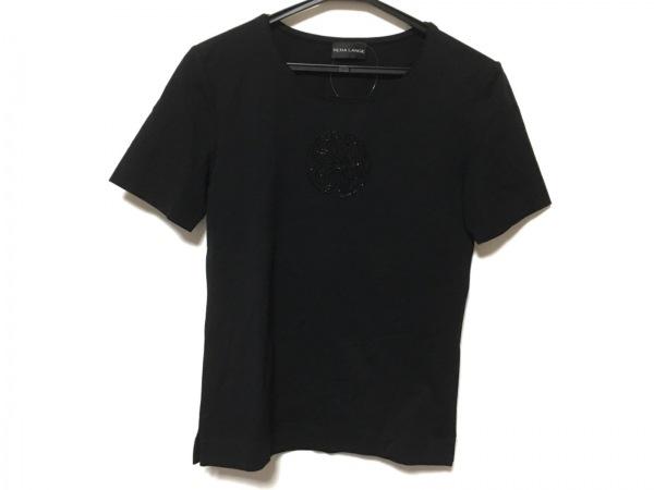 RENA LANGE(レナランゲ) 半袖Tシャツ レディース美品  黒 ビーズ
