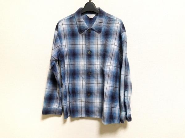 アンユーズド 長袖シャツ サイズ1 S メンズ美品  ブルー×ネイビー×白 チェック柄