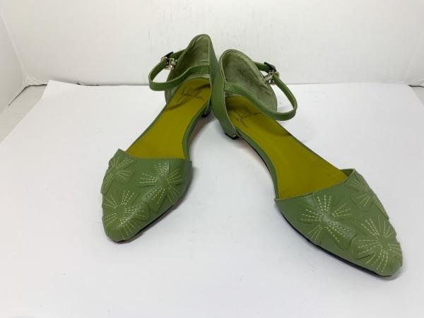 Sybilla(シビラ) パンプス レディース ライトグリーン フラワー レザー