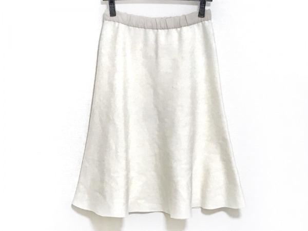 ザシークレットクローゼット スカート サイズ1 S レディース 白×ライトブラウン