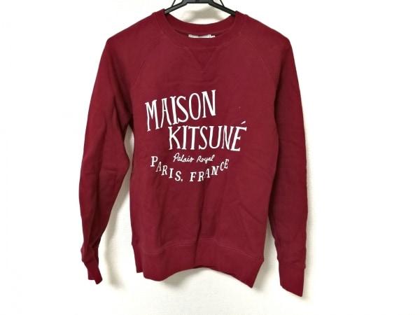 MAISON KITSUNE(メゾンキツネ) トレーナー レディース ボルドー×白