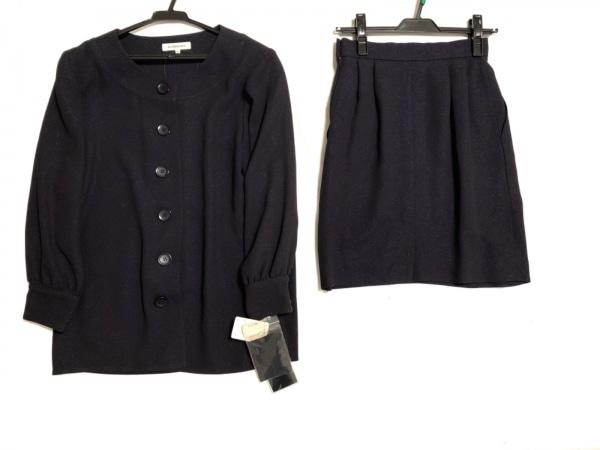 イヴサンローラン スカートスーツ サイズ36 S レディース新品同様  ダークネイビー