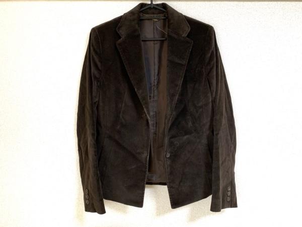 ef-de(エフデ) ジャケット サイズ9 M レディース新品同様  ダークブラウン ベロア