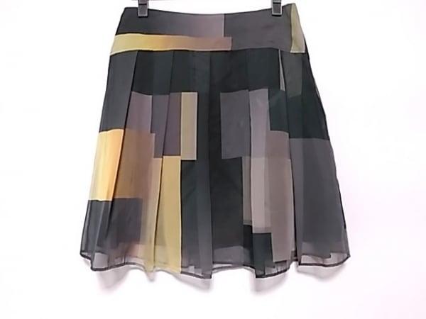ブラックレーベルポールスミス スカート サイズ42 L レディース 黒×イエロー×マルチ