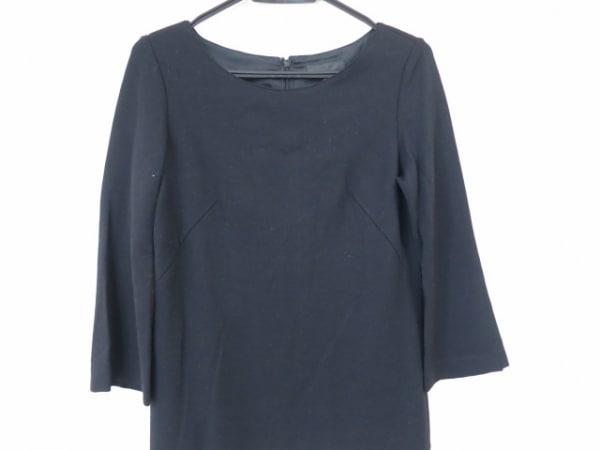 ICB(アイシービー) ワンピース サイズ11 M レディース美品  黒×白×グレー
