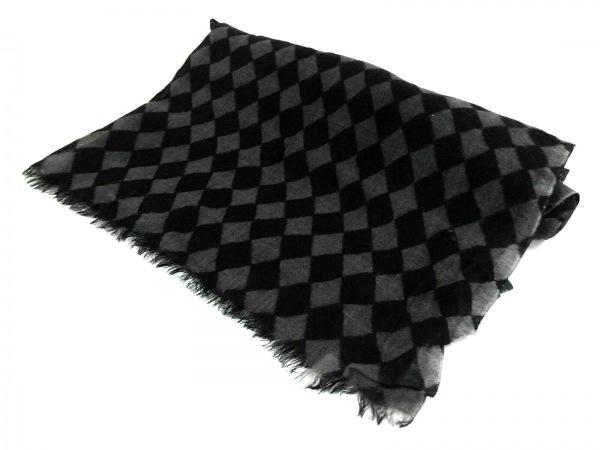 PaulSmith(ポールスミス) ストール(ショール) 黒×グレー ウール