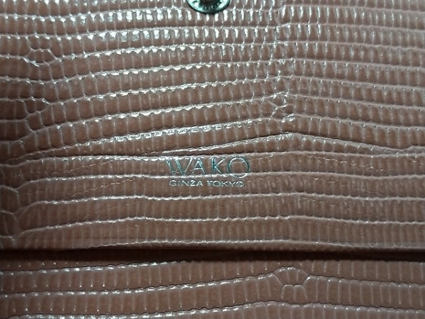 WAKO(ワコー) 長財布 ピンク レザー
