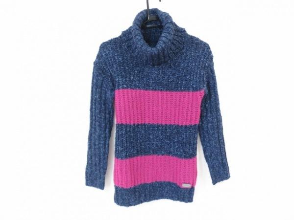 マリークワント 長袖セーター サイズM レディース美品  ネイビー×ブルー×パープル