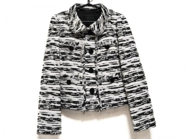 トゥービーシック ジャケット サイズ40 M レディース美品  白×黒 ツイード