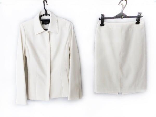 Le souk(ルスーク) スカートスーツ サイズ36 S レディース アイボリー 肩パッド