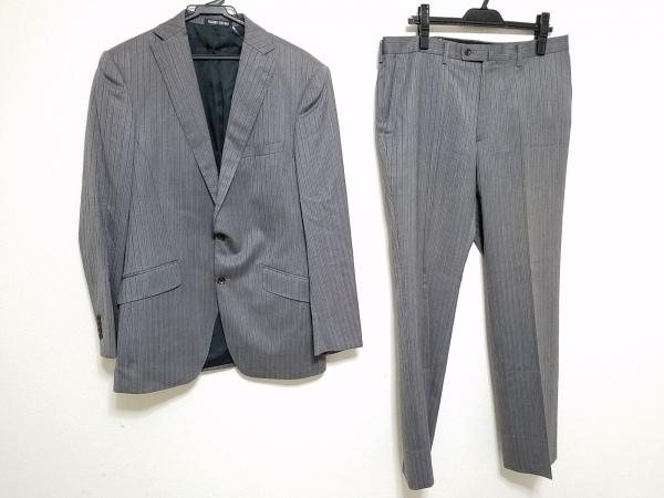 PERSON'S(パーソンズ) シングルスーツ メンズ グレー×ダークグレー