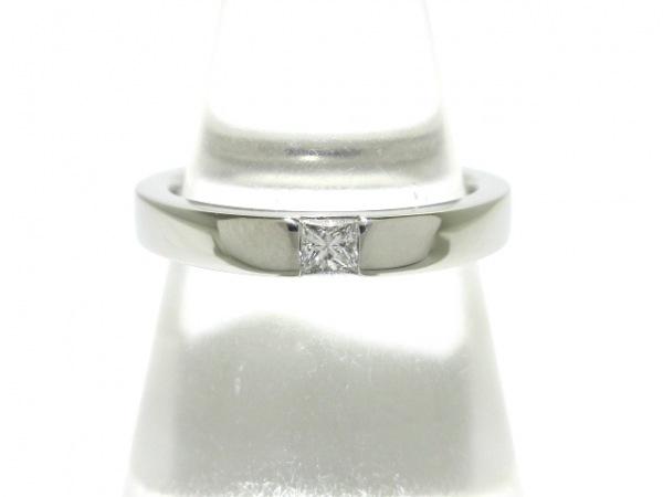 HARRY WINSTON(ハリーウィンストン) リング新品同様  Pt950×ダイヤモンド 1Pダイヤ
