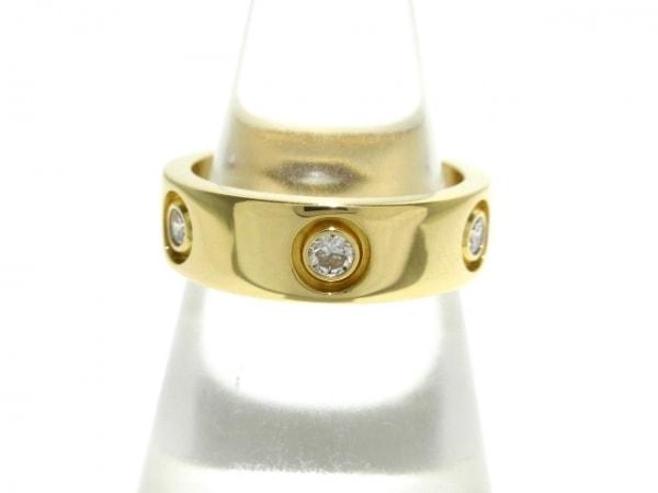 Cartier(カルティエ) リング 50新品同様  ラブリング フルダイヤ K18YG×ダイヤモンド