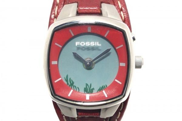 FOSSIL(フォッシル) 腕時計 - レディース 革ベルト グレー