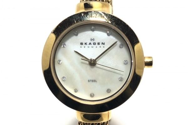 SKAGEN(スカーゲン) 腕時計 107SGCG1 レディース シェル文字盤 白