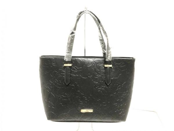 rienda(リエンダ) トートバッグ美品  黒 型押し加工 合皮