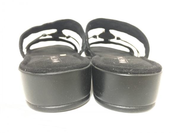 MINNETONKA(ミネトンカ) ミュール 9 レディース 黒×シルバー レザー×金属素材