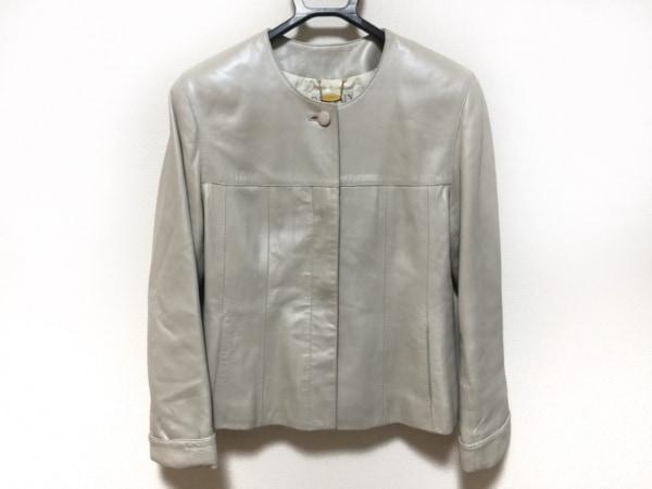 BALMAIN(バルマン) ジャケット サイズM レディース ライトグレー 牛革