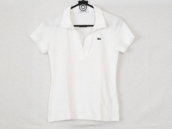 Lacoste(ラコステ) 半袖ポロシャツ サイズ34 S レディース 白