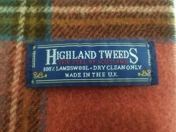 HIGHLAND 2000(ハイランド 2000) マフラー美品  レッド×グリーン×マルチ ウール