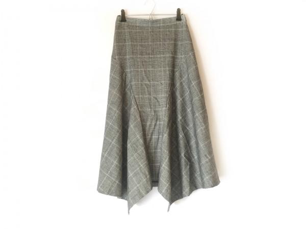 ドレステリア ロングスカート サイズ36 S レディース美品  白×黒 チェック柄