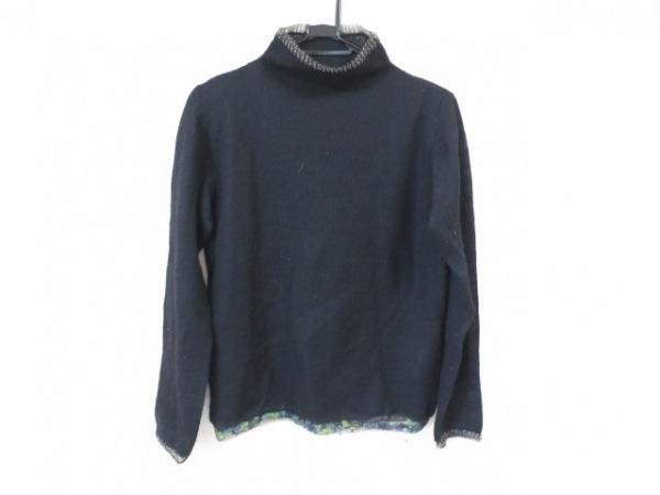 HaaT HeaRT(ハート) 長袖セーター サイズ2 M レディース美品  黒 ハイネック