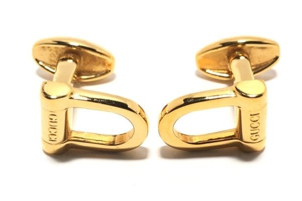 innovative design 6e2ca 15442 GUCCI(グッチ) カフス - 金属素材 ゴールド