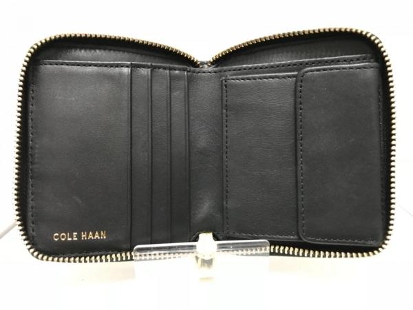 COLE HAAN(コールハーン) 2つ折り財布 黒 ラウンドファスナー レザー