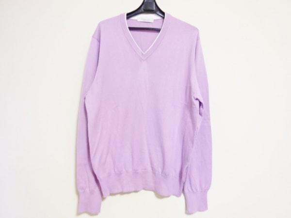 ErmenegildoZegna(ゼニア) 長袖セーター メンズ ピンク×白