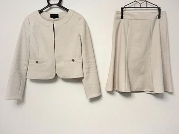 クイーンズコート スカートスーツ サイズ1 S レディース美品  アイボリー