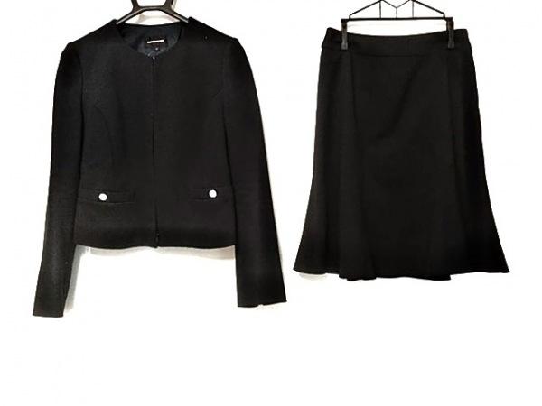 QUEENS COURT(クイーンズコート) スカートスーツ サイズ1 S レディース美品  ネイビー