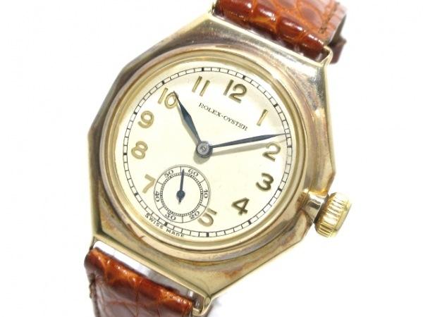 ROLEX(ロレックス) 腕時計 オイスターオクタゴン 2136 レディース アイボリー