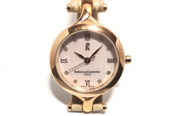 カメリーノ 腕時計 RC-7736 レディース ラインストーン ベージュ