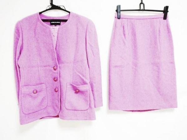 lapine blanche(ラピーヌブランシュ) スカートスーツ サイズ13 L レディース パープル