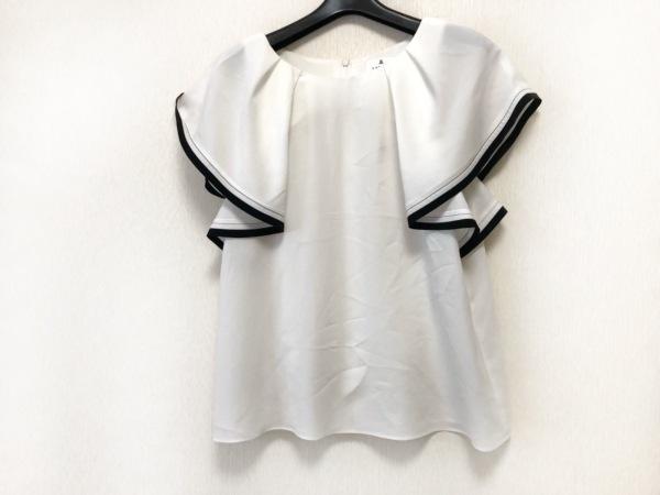 ランバンオンブルー 半袖カットソー サイズ38 M レディース美品  白×黒