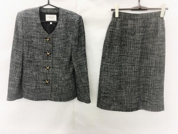 kimijima(キミジマ) スカートスーツ サイズ9 M レディース美品  ダークグレー