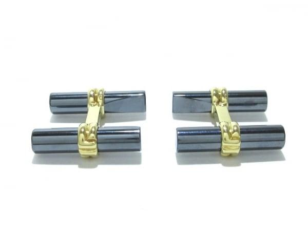 BOUCHERON(ブシュロン) カフス美品  K18YG×金属素材 ダークグレー