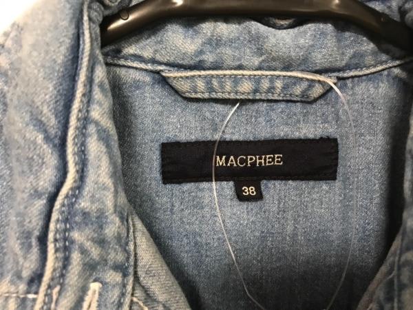 マカフィ ワンピース サイズ38 M レディース美品  ブルー シャツワンピ/デニム