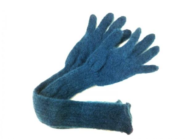 FACETASM(ファセッタズム) 手袋 メンズ美品  ブルー ウール×化学繊維