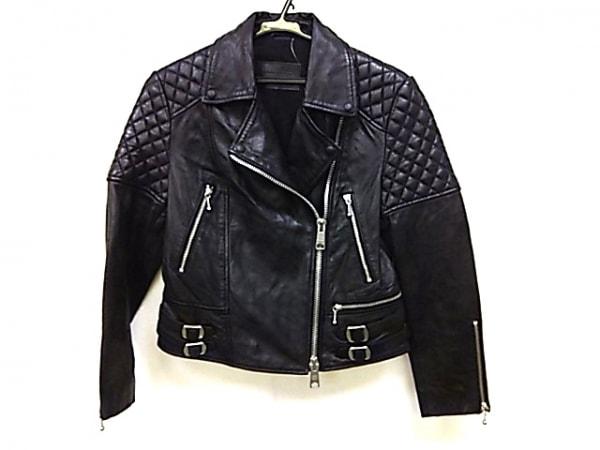 オールセインツ ライダースジャケット メンズ 黒 レザー/キルティング/春・秋物