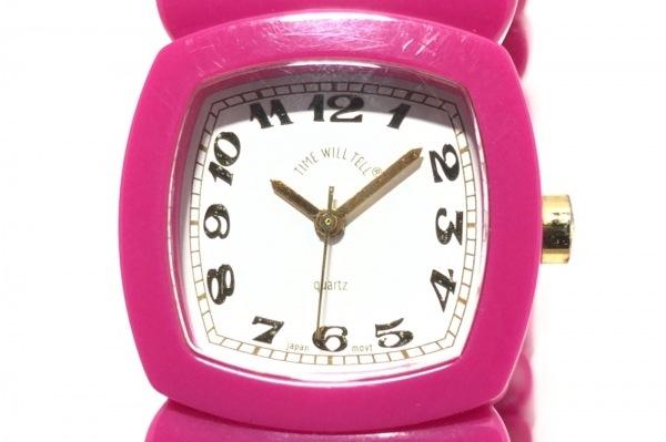TIME WILL TELL(タイムウィルテル) 腕時計 - レディース ブレスウォッチ 白