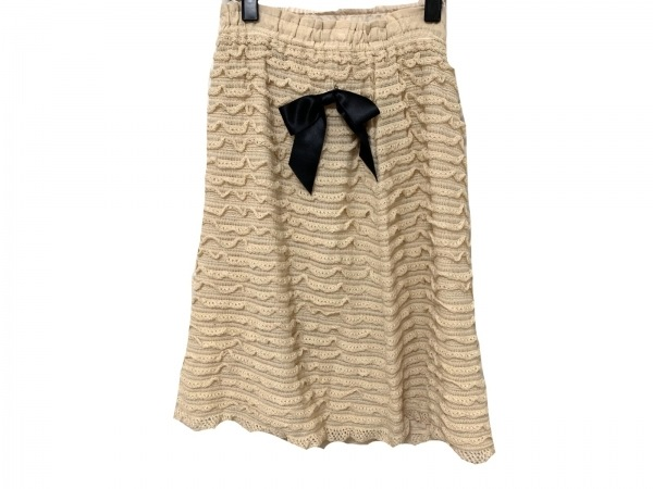 YUKITORII(ユキトリイ) スカート サイズ40 M レディース新品同様  ベージュ ニット