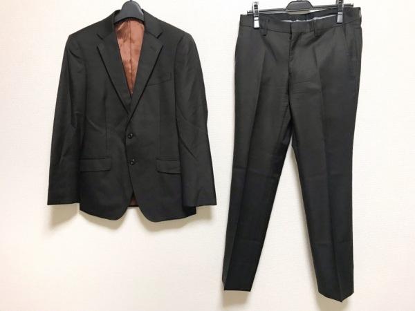 ムッシュニコル シングルスーツ サイズ46 XL メンズ ダークブラウン 肩パッド